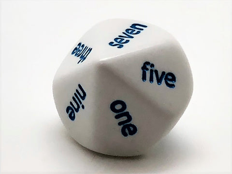 10-sided (d10) Word Numbers Dice