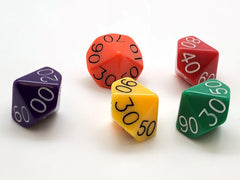 10-sided (d10) 00-90 16mm Dice
