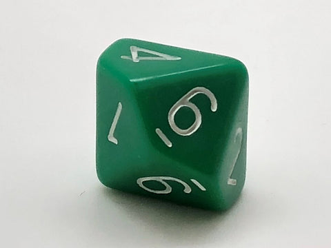 Standard 10-sided (D10) 0-9 16mm Dice - Opaque