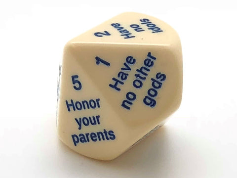 10-sided (d10) Commandment Die