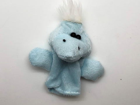 Light Blue Monster Finger Puppet