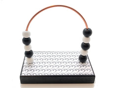 Music Bass Clefs Bead Counter - Black