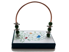 Music Green Vine Staff Bead Counter