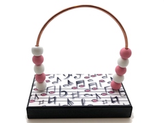 Music Black and Pink Notes Bead Counter