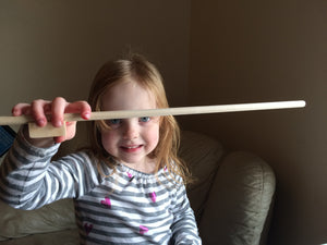 Pretwinkle Dowel Bow - Natural Wood