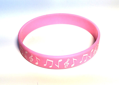 Silicone Music Bracelet - Light Pink