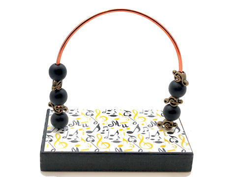 Music Black and Gold Bead Counter