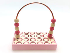 Circles Pink Retro Bead Counter