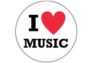 I {heart} Music Sticker