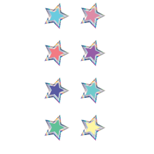 Load image into Gallery viewer, TCR Iridescent Stars Mini Stickers