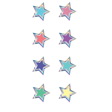 Iridescent Stars Mini Stickers