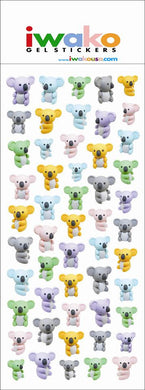 Iwako Koala Stickers
