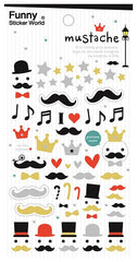 Mustache Funny Sticker World Stickers