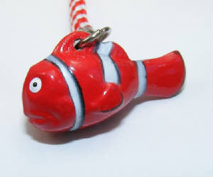 Red Fish Bell Charm