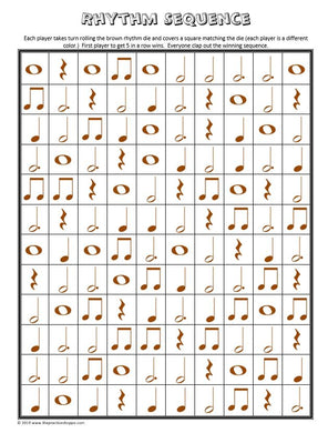 Rhythm Sequence - Brown, Whole Page