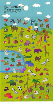 Funny World Serengeti Shiny Foil Stickers