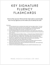 Load image into Gallery viewer, Key Signature Fluency Flashcards (Treble Clef) - 10 Sets of Flashcards (digital download)