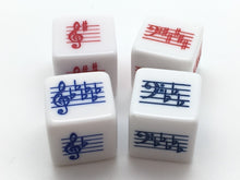 Load image into Gallery viewer, Key Signature Dice - Treble/Bass Clef - Sharps/Flats - Set of 4