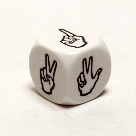 6 Sided Sign Language Dice