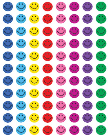TCR Smiley Face Mini Stickers