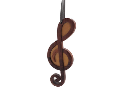 Treble Clef Wood Ornament