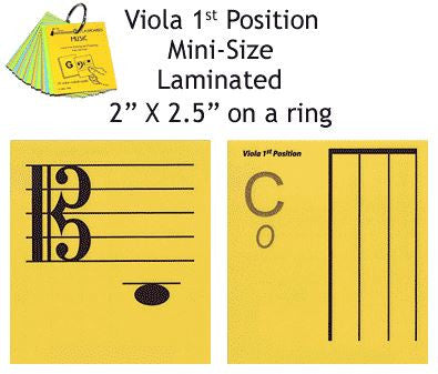 Viola Mini Laminated Flashcards