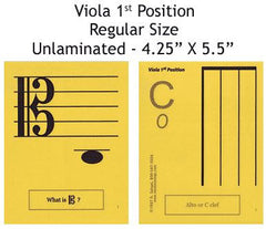 Viola Regular Unlaminated Flashcards