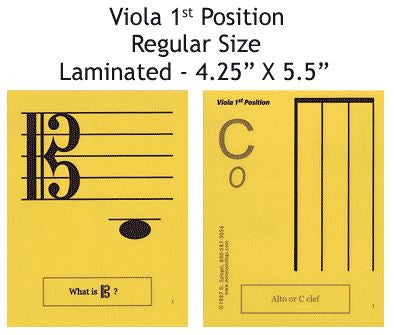 Viola Regular Laminated Flashcards