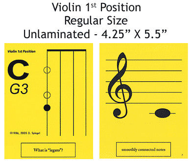 Violin Regular Unlaminated Flashcards