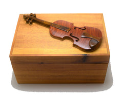 Intarsia Wood Box - Violin
