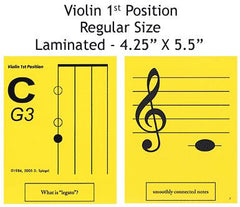 Violin Regular Laminated Flashcards