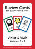 Review Cards for Violin/Viola Volumes 1-4