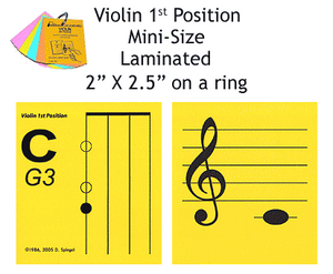Violin Mini Laminated Flashcards