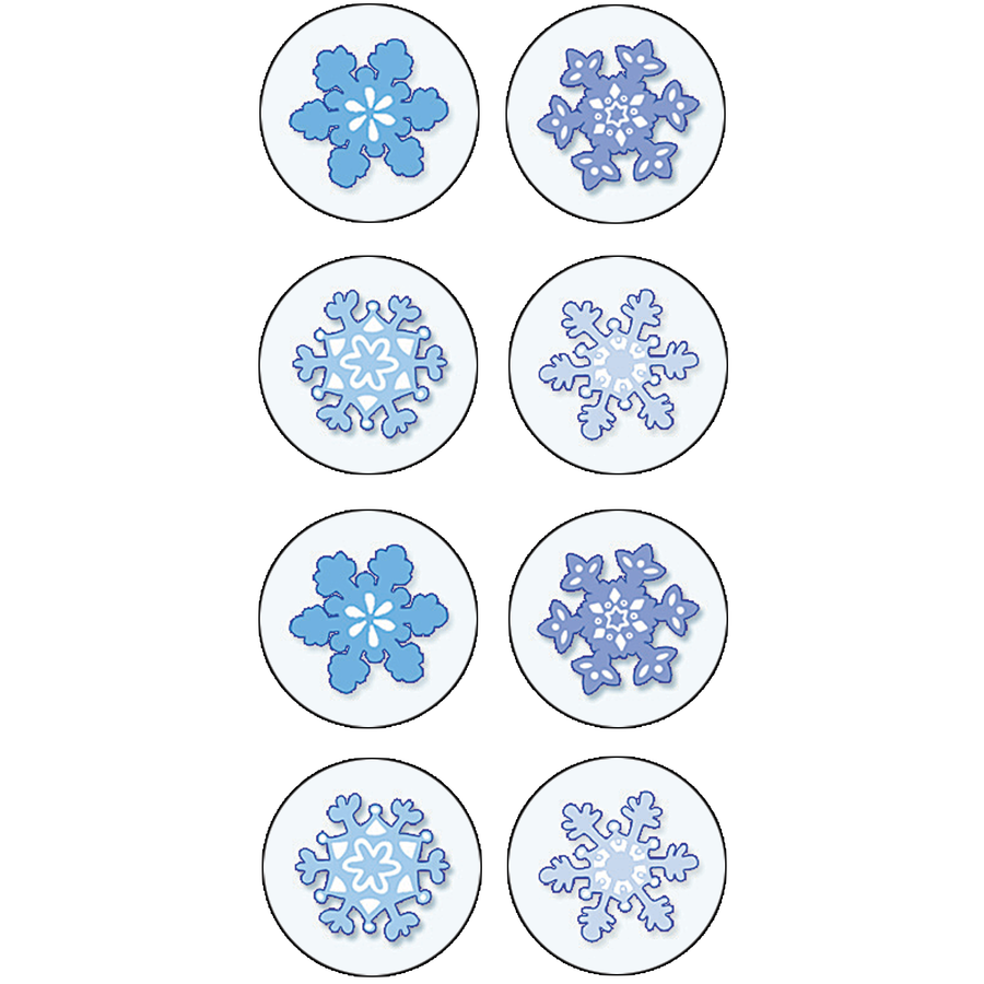 TCR Winter Snow Mini Stickers