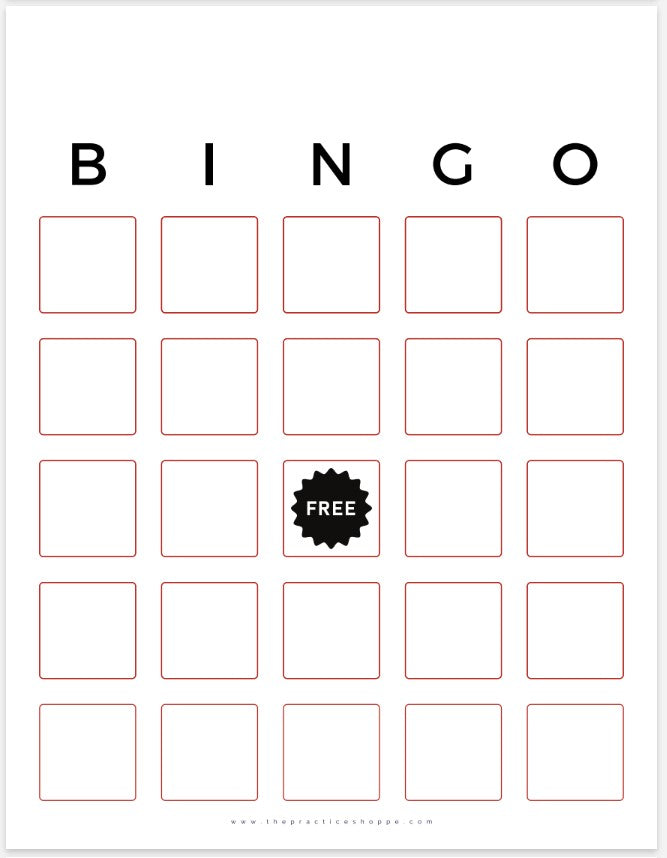 BINGO Blank (Digital Download)