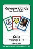 Cello Suzuki Review Cards for Volumes 1-4 - Large