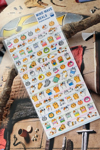 Cat Mind Wave Stickers