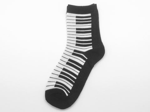 Music Socks Girls 6-8 - Piano