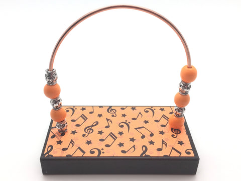 Music Notes and Stars Orange Bead Counter