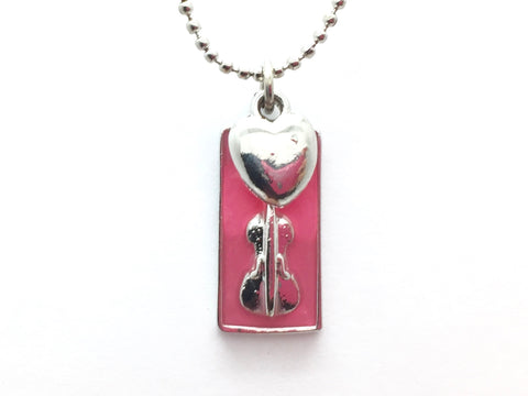 Violin Necklace Pink