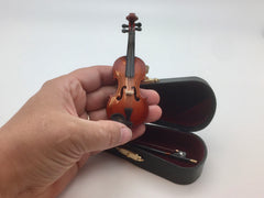 Miniature Violin and Bow Small 4 inch