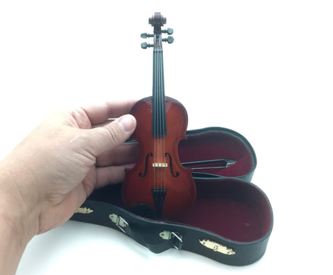 Miniature Violin and Bow Small 7 inch