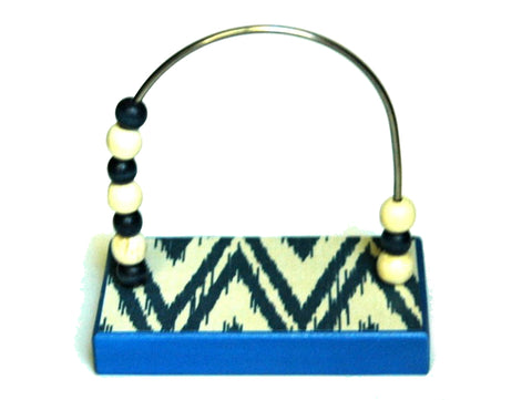 Ikat Blue Bead Counter