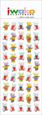 Iwako Teddy Bear Stickers