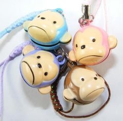 Monkey Frowning Bell Charm
