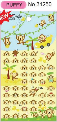 Monkey Puffy Stickers