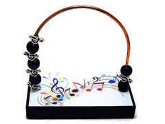 Music Colorful Staff Bead Counter - Black