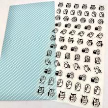 Mind Wave Clear Flat Owl Stickers