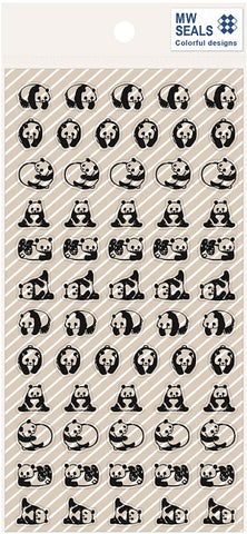 Panda Mind Wave Seals Clear Stickers