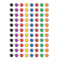 Colorful Paw Print Mini Stickers